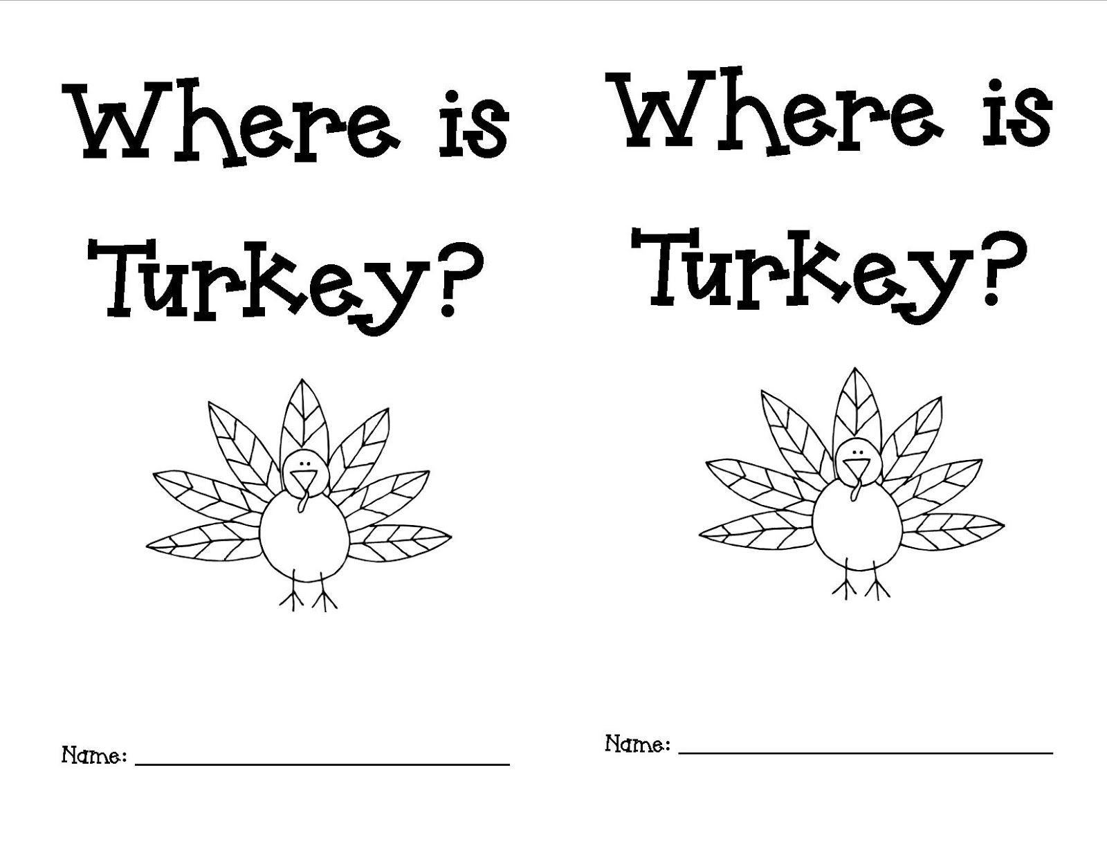 Mrs Morrow S Kindergarten Where Is The Turkey