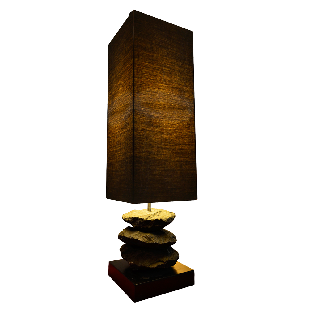 Briquette Table Lamp Nature Inspired Design