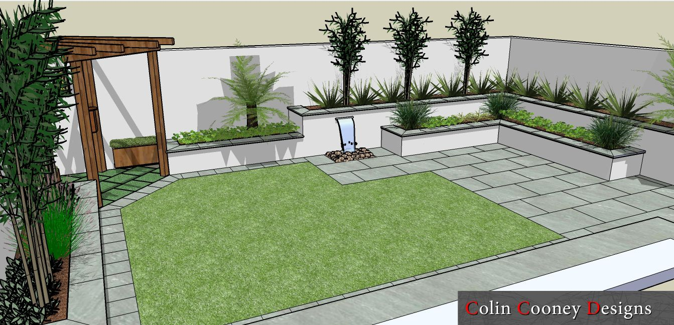 Garden Design Easy Maintenance maintenance free backyards | colin cooney designs: rathfarnham low