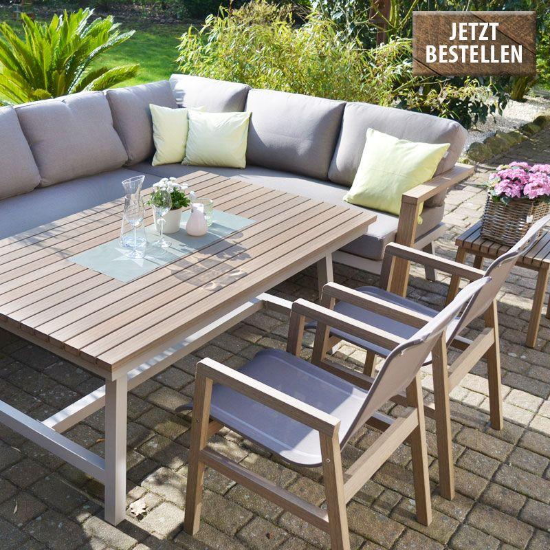 Enviro Wood Ecklounge 2 Stuhle Tisch Mailand Gartenmobel