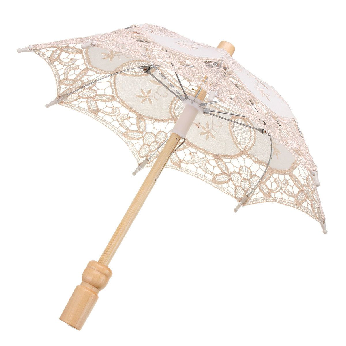 Lace Elegant Embroidered Parasol Umbrella For Bridal Wedding Party ...