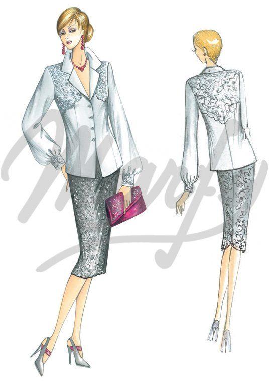 Model 4011 PDF | Sewing Pattern Shirts / Tunic | Marfy projects ...