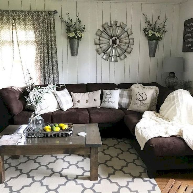 34 Best Modern Farmhouse Decor Ideas For Living Room 34 Living Room Sofa Design Farm House Living Room Brown Couch Living Room