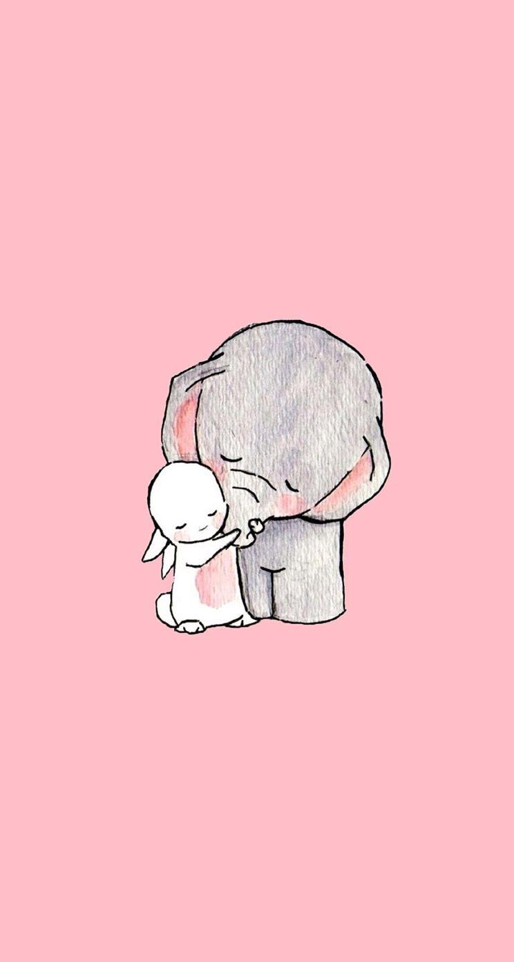 cute doodle wallpaper desktop screensaver iphone background smartphone phone elephant