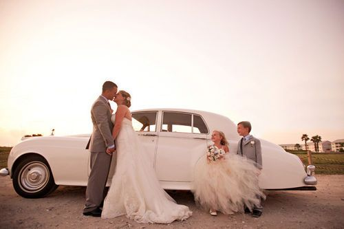 LOVE the gray tux and the flower girls dress!!!