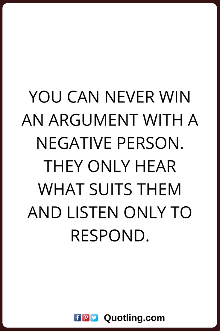 How to respond to a negative person