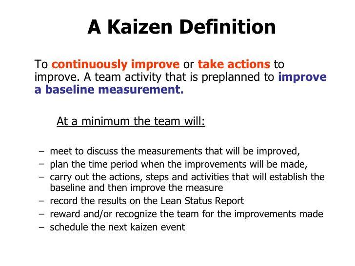 Kaizen Definition  Google Search  Back To School Principles