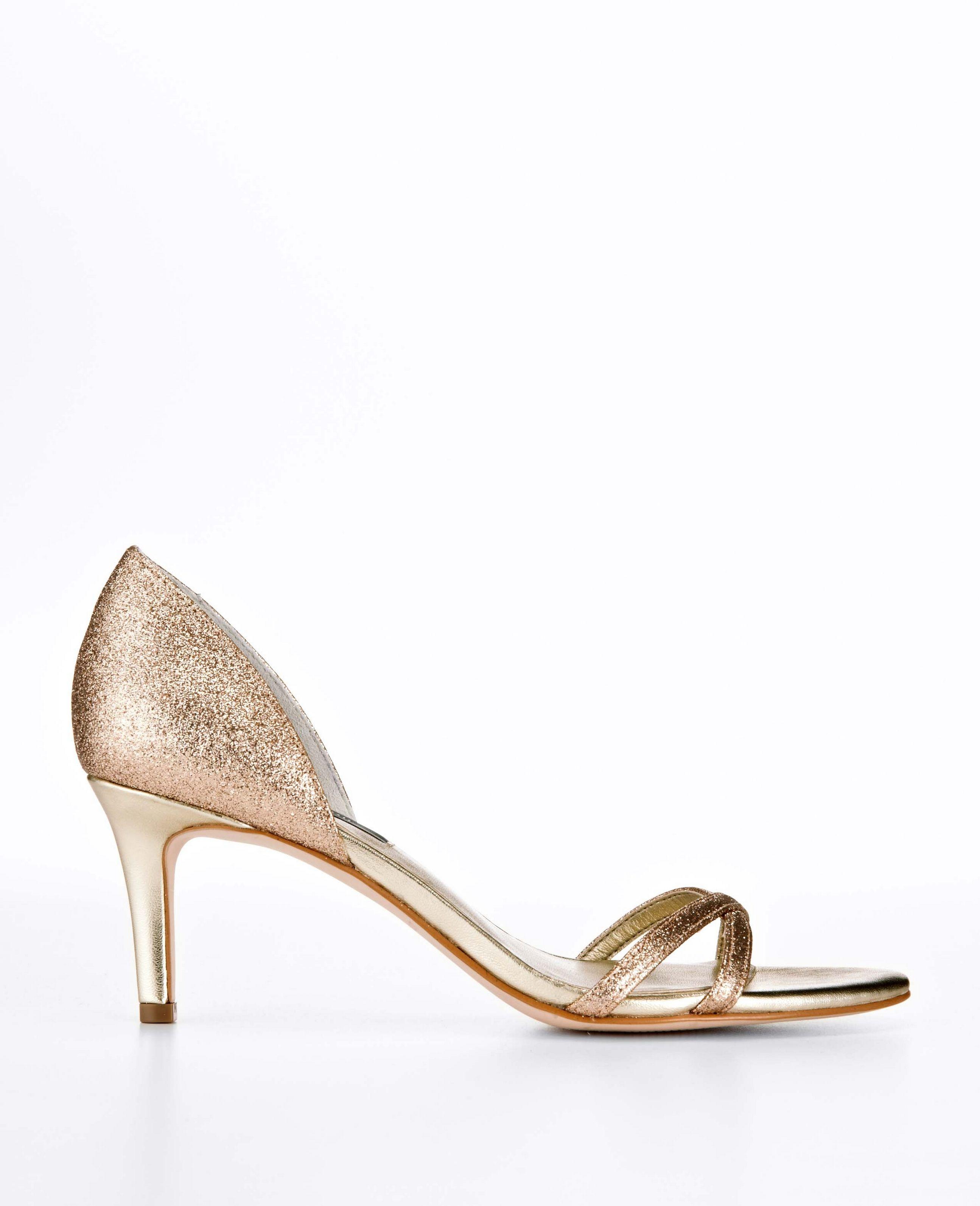 100 Beautiful Golden Shoes Heel Ideas Kitten Heel Sandals Metallic Strappy Heels Gold Kitten Heels
