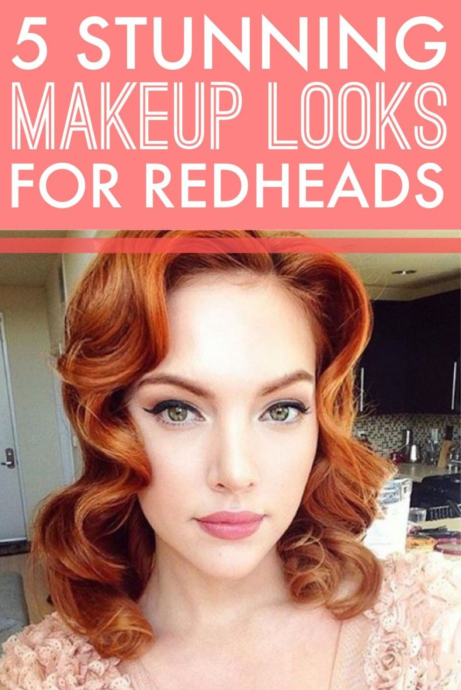 5 Stunning Makeup Looks For Redheads Red hair makeup