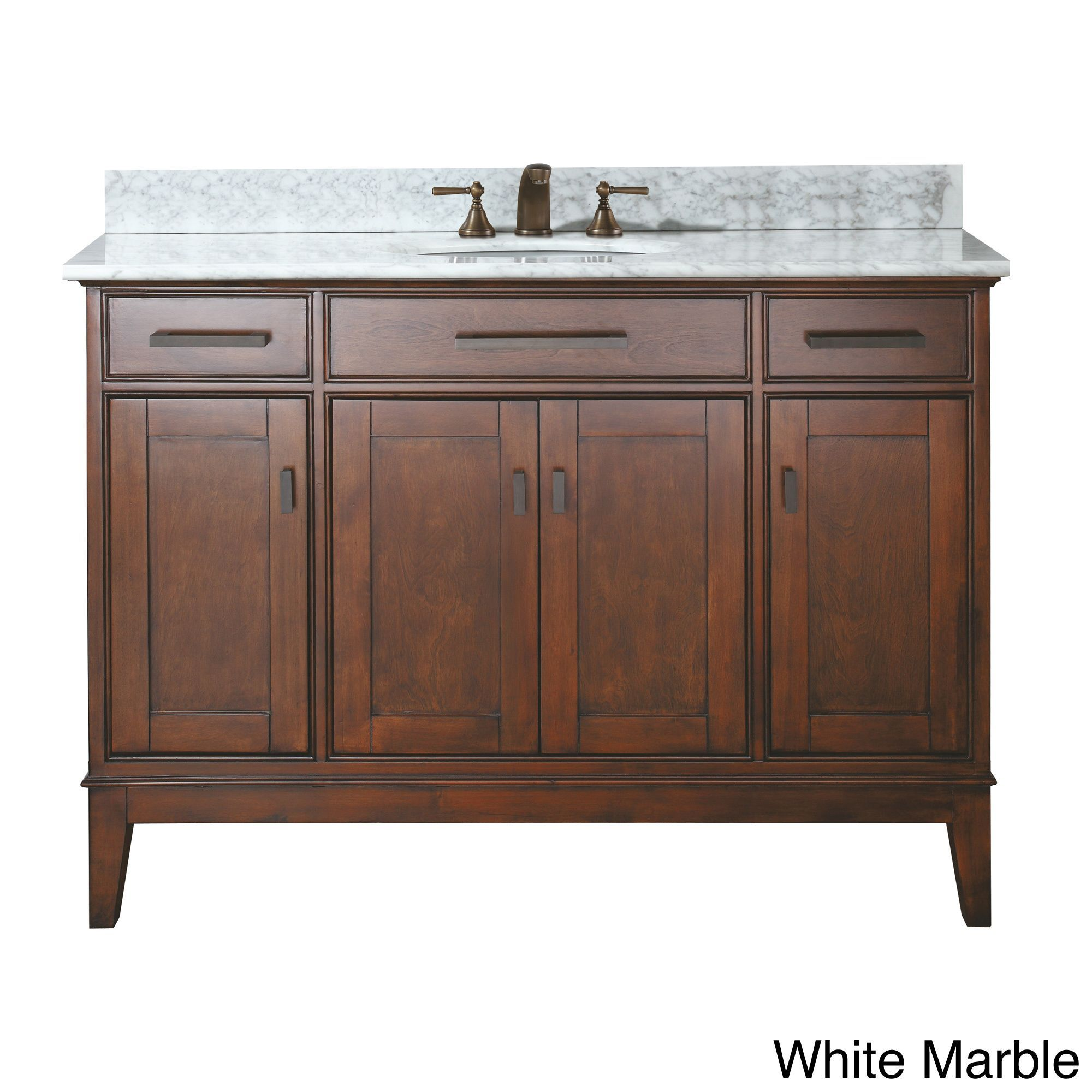 Avanity Madison 48 Inch Single Vanity In Tobacco Finish with Sink