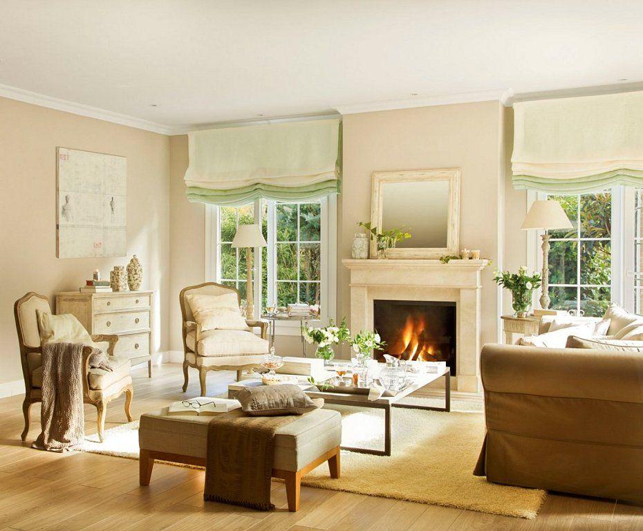 Chimeneas de estilo cl sico renovado decorar tu casa es - Decorar salon clasico ...