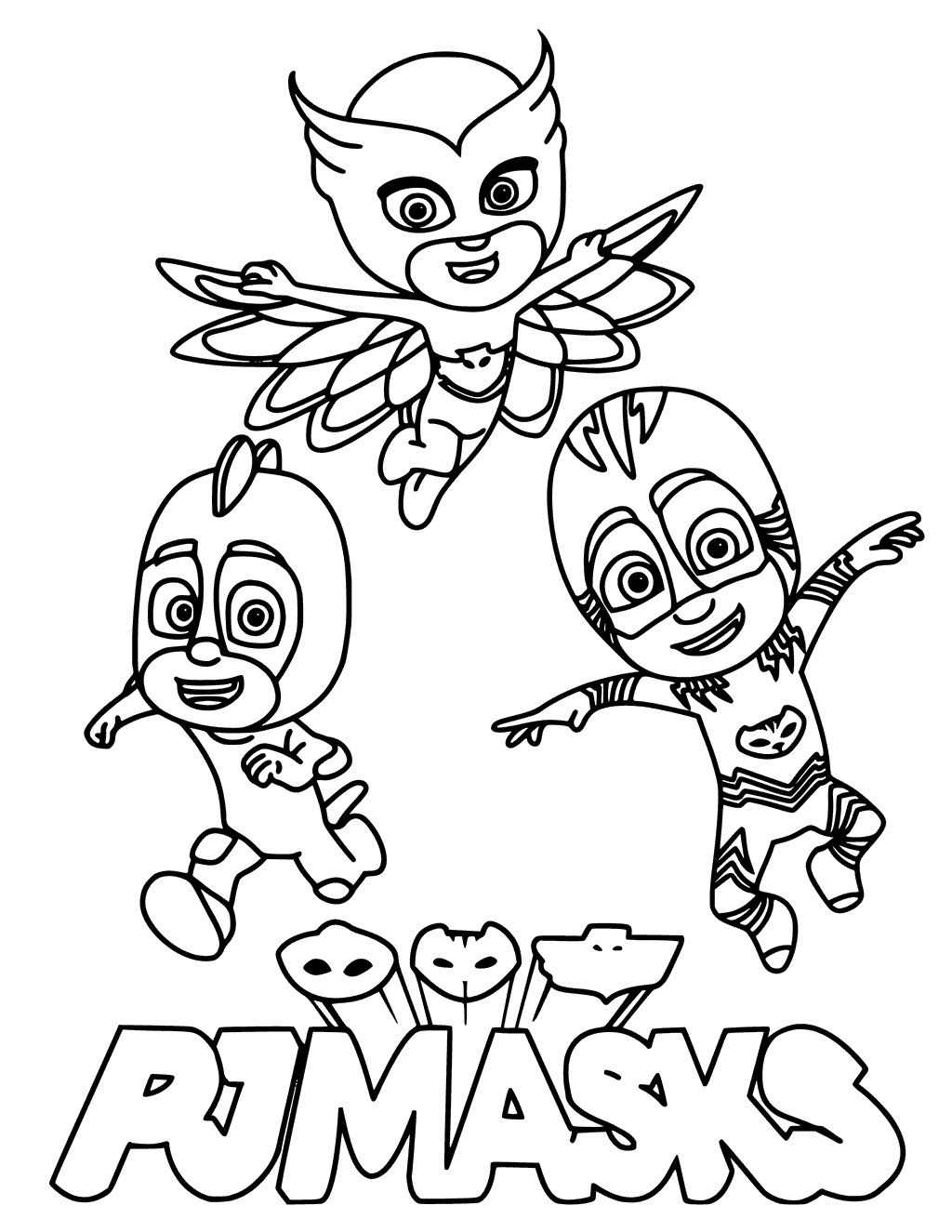 Pj Masks Villain Pj Masks Coloring Pages Birthday Coloring