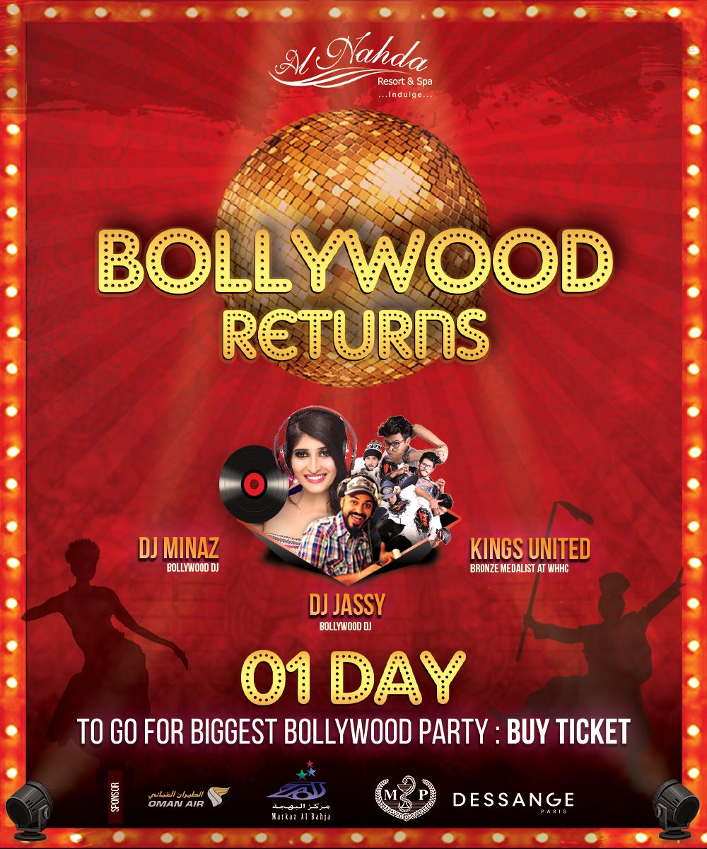 The Biggest Bollywood Newyear Party Is Just A Day Ahead Al Nahda Resort Spa Proudly Welcomes You To Join The Fun And Frolic Resort Spa Resort Hotel Spa
