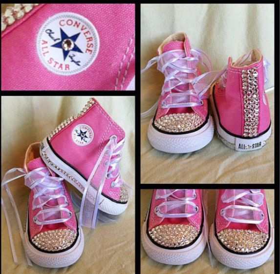 All stars | Bling converse, Baby girl shoes, Baby converse