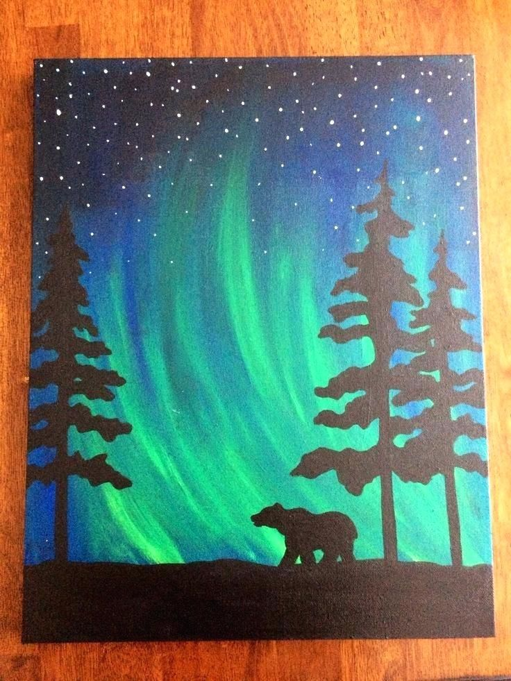 Check Out Our Most Recent Collection Of Diy Ideas Showcasing 15 Super Easy Diy Canvas Painting Ideas For Artis Art Painting Easy Canvas Painting Silhouette Art