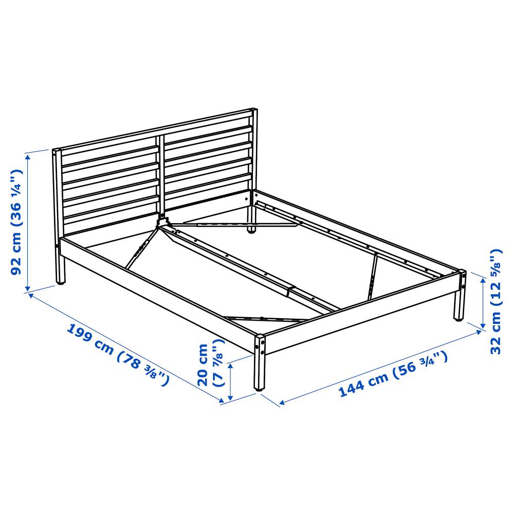 IKEA TARVA Pine, Luröy Bed frame Bed frame, Steel bed