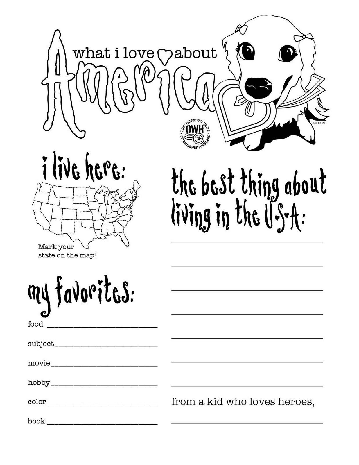 God Bless America Coloring Page Troops Google Search Teacher