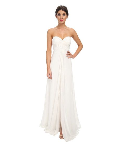 12f5fab35b Faviana Chiffon Strapless Sweetheart Knot Dress 7591 Ivory - Zappos ...