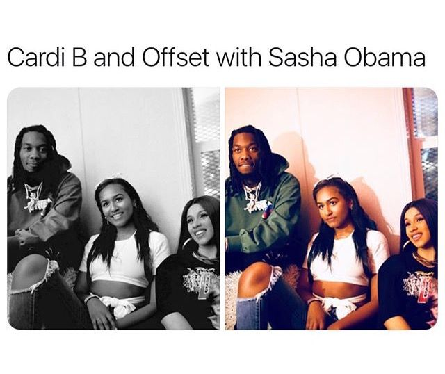 Cardio And Offset Are Goals And Sasha Obama Is So Freaking Pretty My Black Is Beautiful Black Beauties Black Is Beautiful