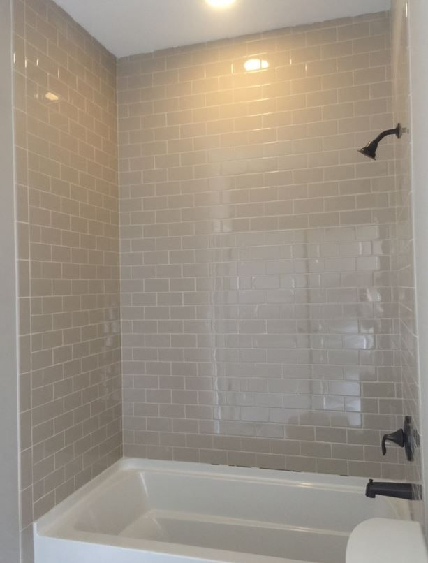 Rittenhouse 3x6 Urban Putty Gloss Wall Tile To Ceiling