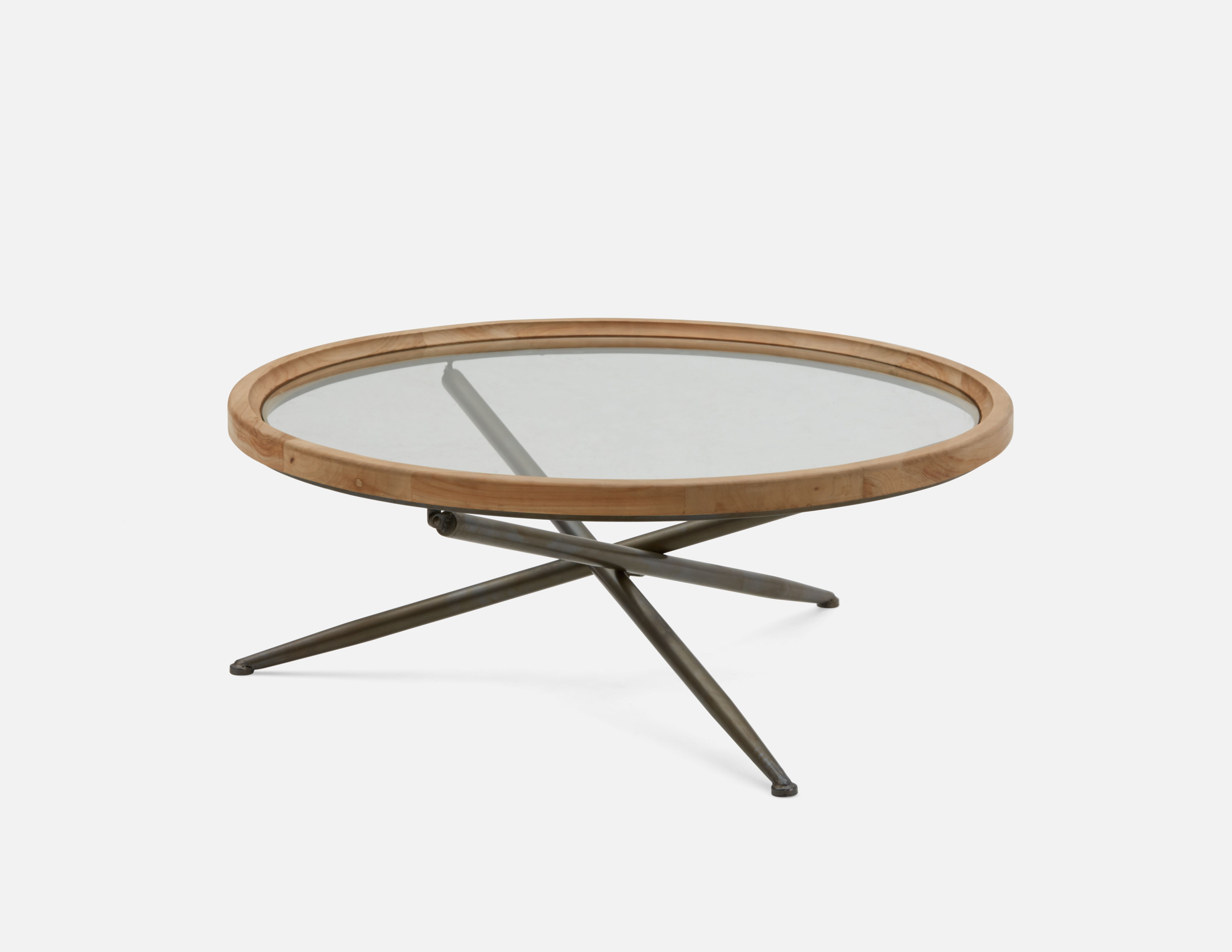 Structube Fir Wood Coffee Table With Tempered Glass Top 100cm Kay Coffee Table Coffee Table Wood Coffee Table Structube [ 3840 x 4969 Pixel ]