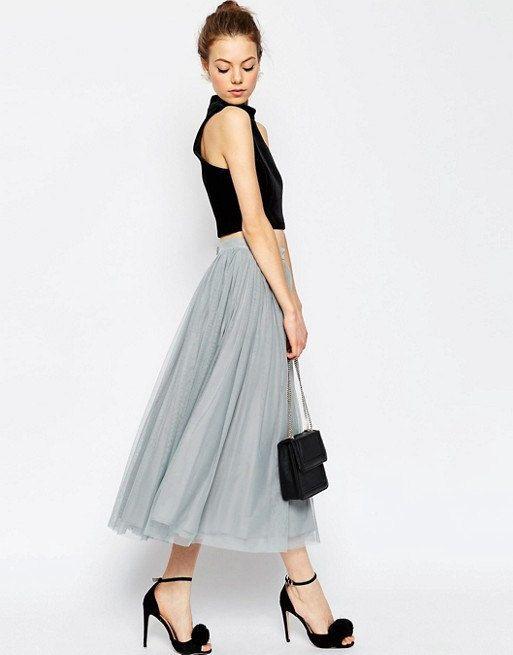 Gray Tulle Skirt- Soft Tulle Skirt, Tea Lengh Tulle Skirt, Adult ...