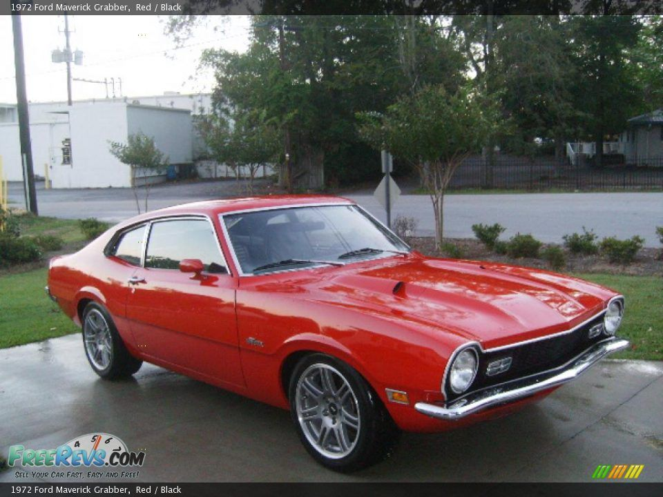 1972 Ford Maverick Grabber In Red Photo No 348372 Ford Maverick