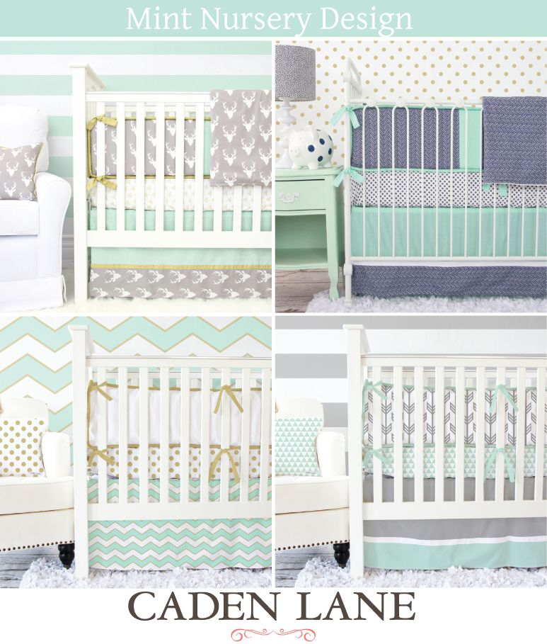 Caden Lane Has The Most Amazing Mint Baby Bedding To Coordinate With Your  Baby Boy Mint