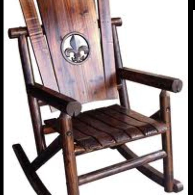 Char Log Fleur De Lis Medallion Single Rocker By Leigh Country Would Love  These For A Porch!