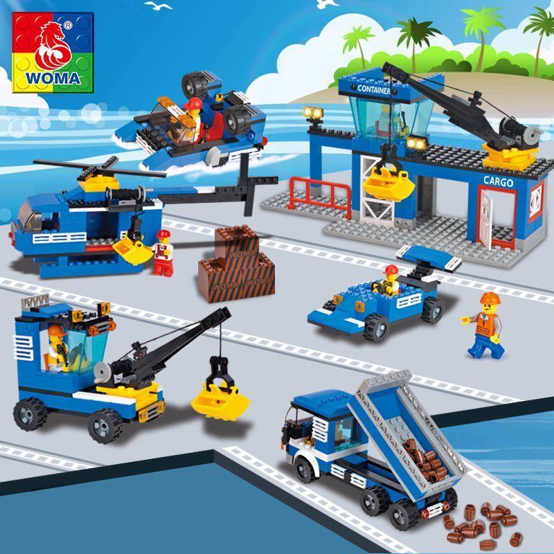 WOMA friend's transport car dock model building blocks girl