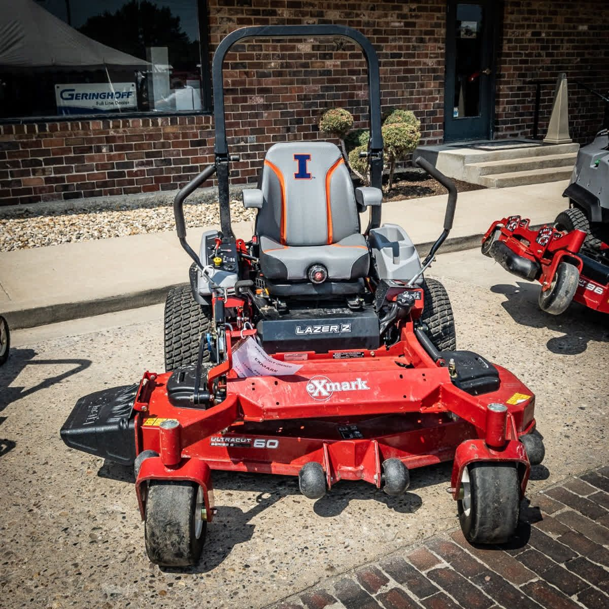 The University Of Illinois Seat Sure Looks Nice On This Exmark Lazer Z Mower Would You Drive It Outdoor Riding Lawnmower Outdoor Power Equipment