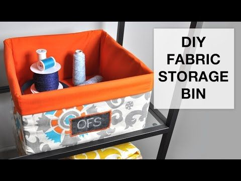 Decorative Fabric Storage Boxes Tutorial On How To Make A Storage Bin With A Bit Of Fabric And