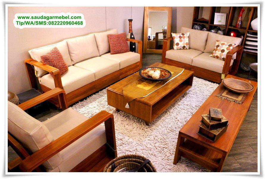 Kursi Tamu Jati Minimalis Ruangan Sempit Model Ruang Harga