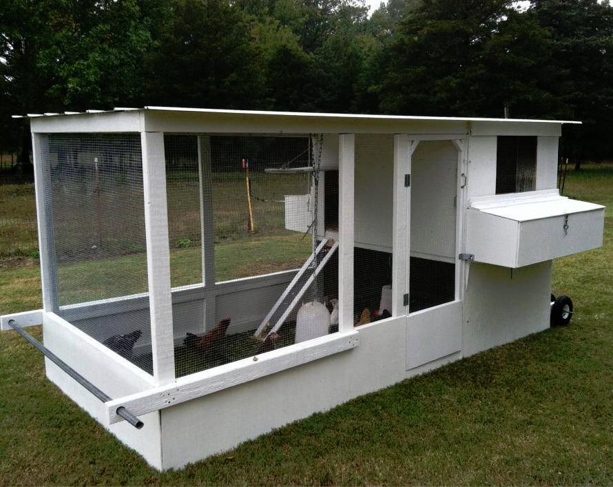 Easy Backyard Chicken Coop Plans (mit Bildern) Mobiler