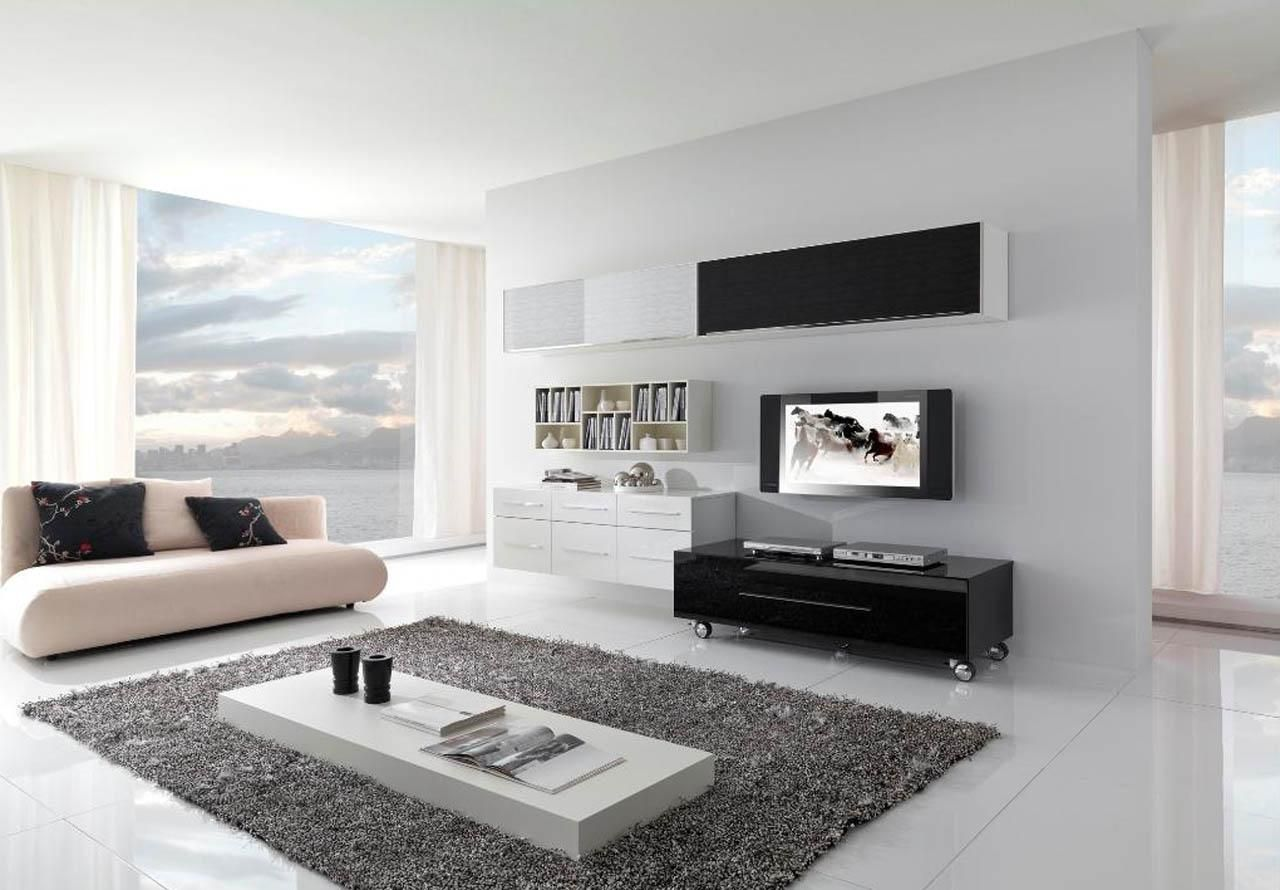 Ordinary Beige Sectional Sofa Set In Modern Living Room With White ...