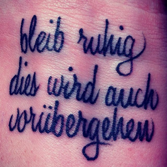 Downloadable German Tattoo Sayings: German Tattoos Are Like Regular Tattoos Only Better
