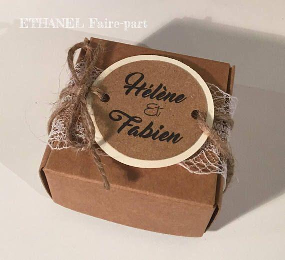 Kraft and lace – set of 10 wedding invitations