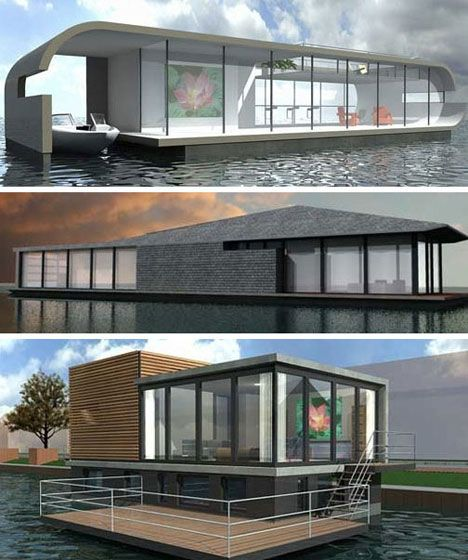 More Modern Amsterdam Floating Homes Design