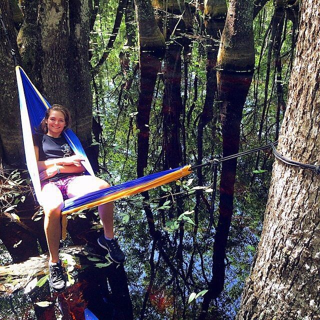 The best way to hang out over a swamp without getting your feet wet- #hammocktime. #TrekLightGear  : @ventureoutkelsey