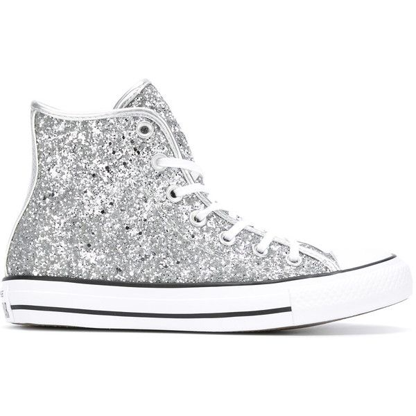 d495e74f8a3014 Converse All Star glitter hi-tops ( 140) ❤ liked on Polyvore featuring  shoes