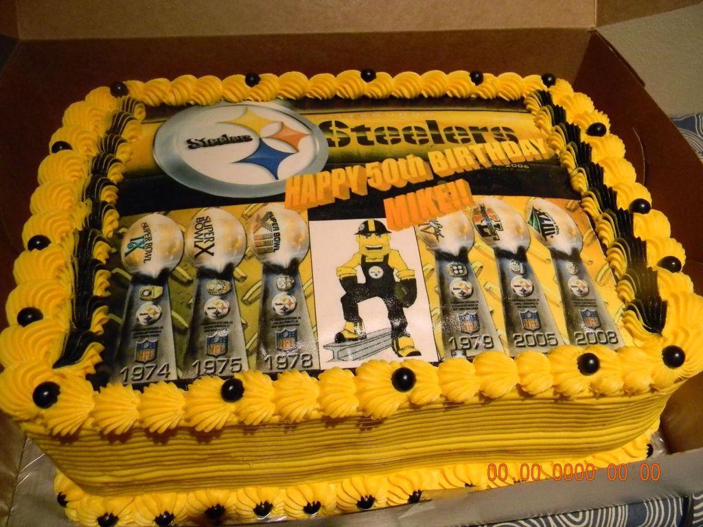 Steeler Cake Steelers Pinterest Steelers stuff