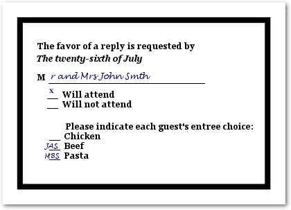 How To Fill Out A Wedding Rsvp.How To Fill Out A Wedding Rsvp Card Wedding Stuff Wedding Rsvp