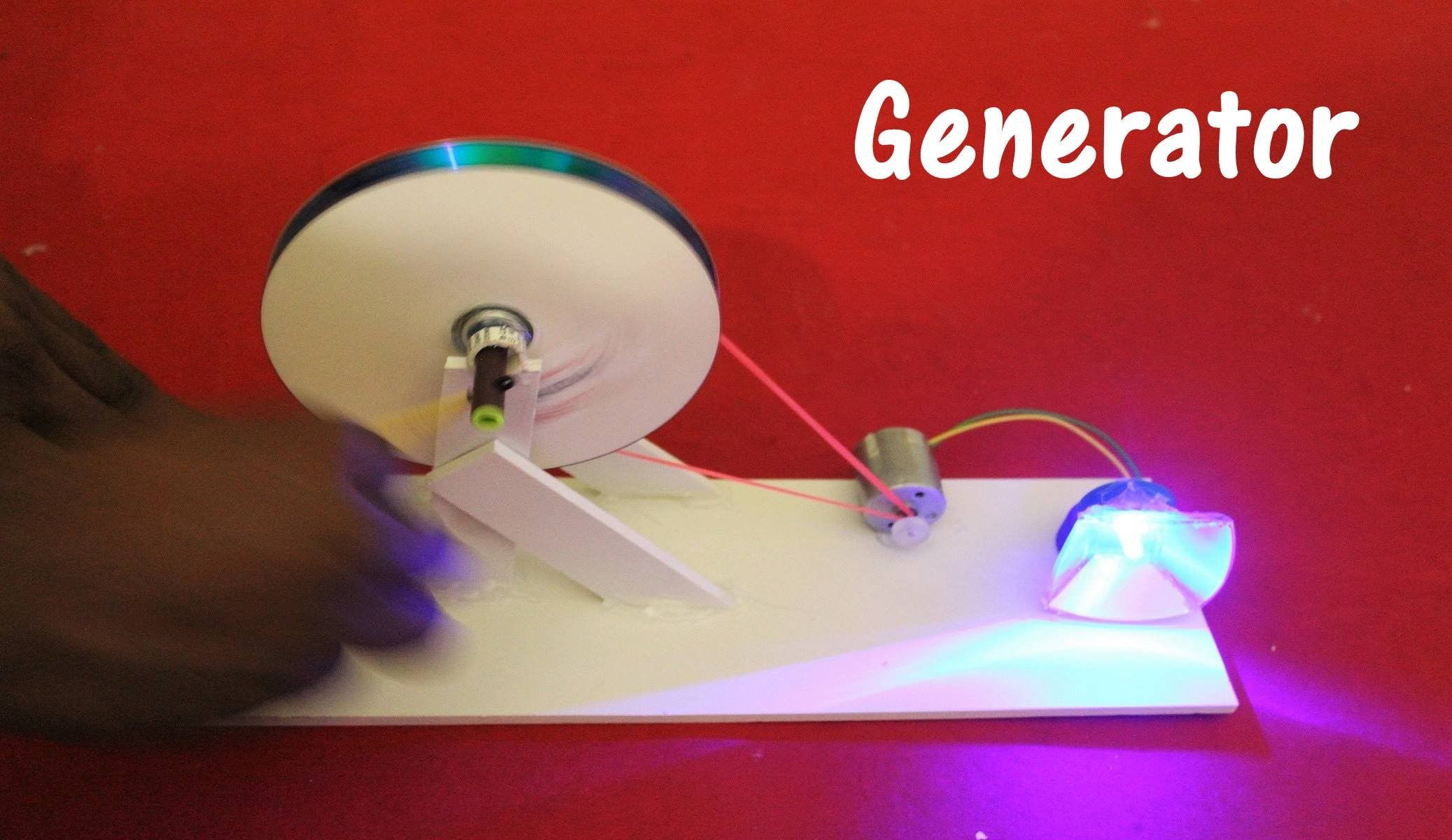 A generator is a device that converts mechanical energy to for Turn an electric motor into a generator