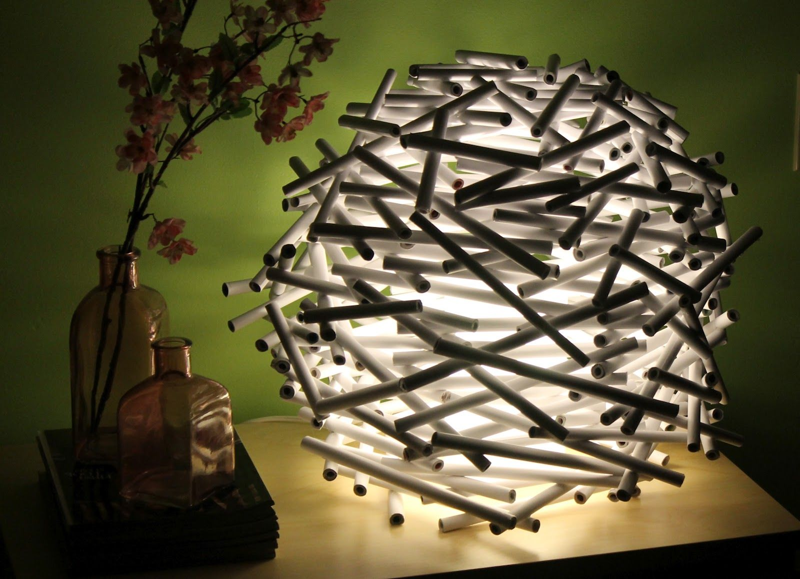 Diy How To Make A Bird S Nest Lamp Shade Out Of Newspaper Diy