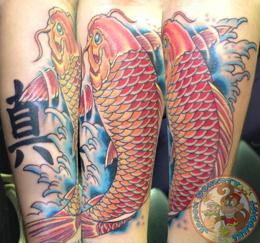 #koi #tattoo #koitattoo My name is #jason #doherty I am a #Professional #tattoo #artist #tattooist or #tattooer making #amazing #tattoos in #beautiful #Northwest near #Portland #Oregon #USA Whether it be #neotraditional #traditional #scrimshaw #tattoo #blackandgray  #linework or just a simple #kanji tattoo I try to do my best with EACH tattoo I do regardless of the size or cost.