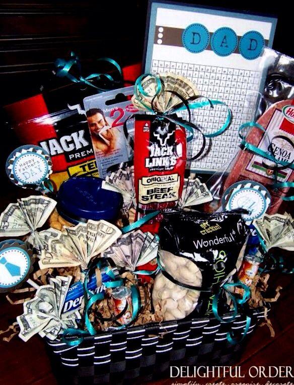 Diy Gift Basket For Your Husband Boyfriend Friend Pinterest