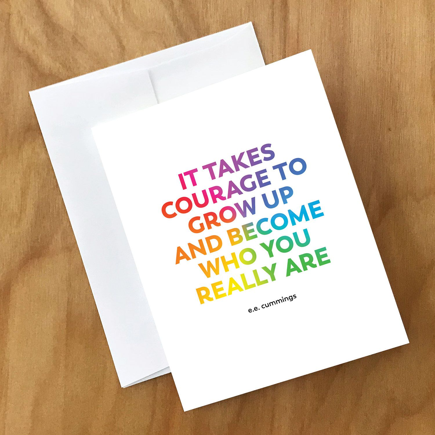 Encouragement card for lgbt coming out card for showing support excited to share the latest addition to my etsy shop encouragement card for lgbt m4hsunfo