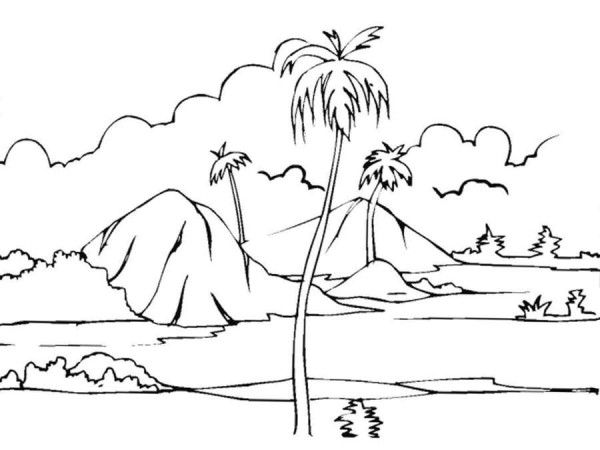 Nature Coloring Pages For Game And Learn Nature Drawing Pictures Beach Coloring Pages Nature Drawing