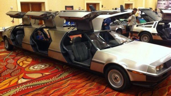 Delorean Car Turned Into A Luxurious Limousine With Images