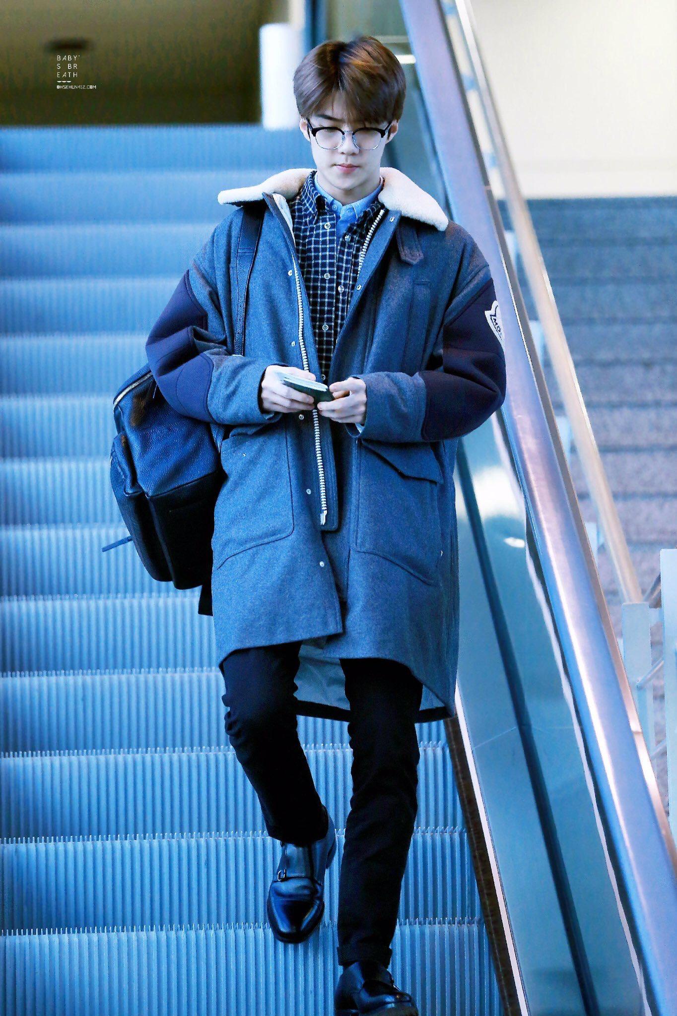 Pin by 아이싸 on EXO 엑수 짱 Exo airport fashion sehun, Exo